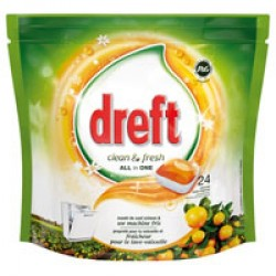 Dreft Clean & Fresh All in One